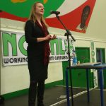 Annie Machon speaking at the NORML UK cannabis campaign AGM at the Malcolm X Centre, Bristol, May 2013.
