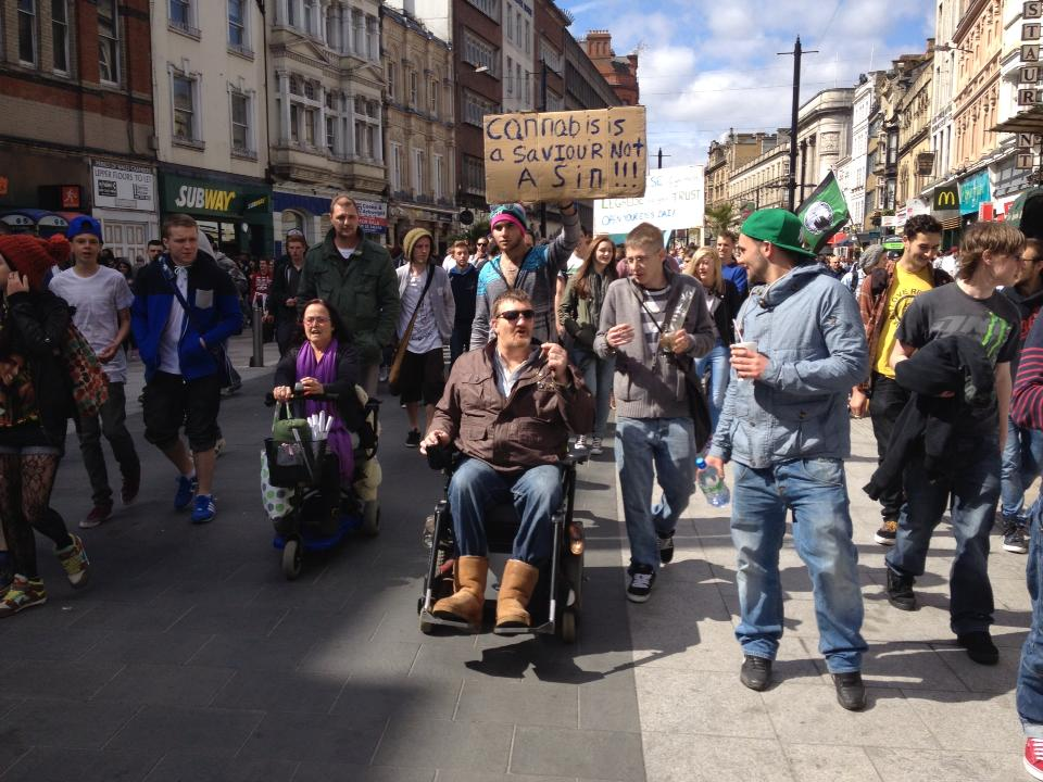 Global Marijuana March, Cardiff, 2013.