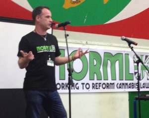 Drug law reform campaigner, Mat Southwell, speaking at the NORML UK