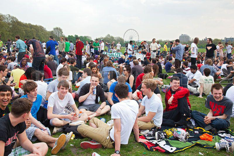 Hyde Park 420 smoke out that took place in April 2013