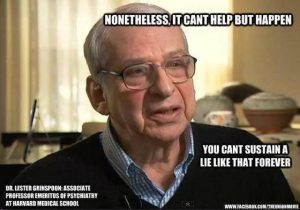 Dr Lester Grinspoon, associate professor emeritus of psychiatry at Harvard Medical School