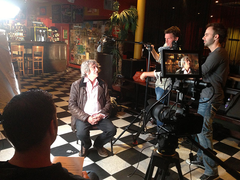 NORML UK Honorary Member, Howard Marks, being filmed by the Culture High film crew.