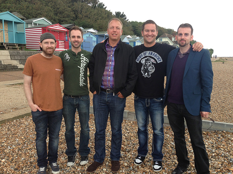 The Culture High Crew: Adam Scorgie, Brett Harvey, Stephen Green, Jason Reed and Prof Alex Stevens.
