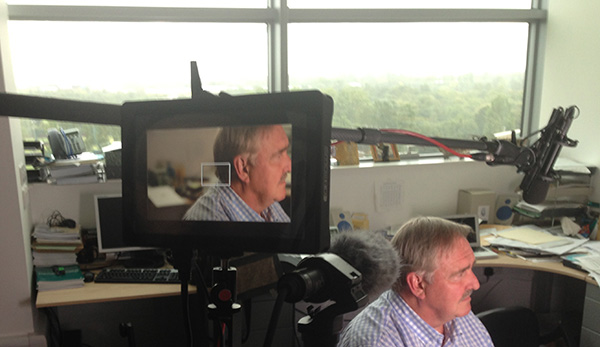 Prof David Nutt being filmed for the Culture High.