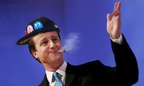 British Prime Minister David Cameron on pot.