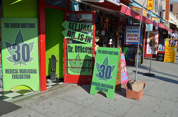 Legal medical marijuana, Venice Beach, LA, United States of America.