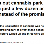 Hyde Park 420 2014.  What the Daily Mail won't tell you …