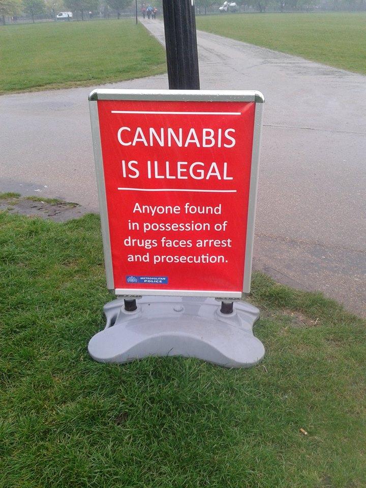 Hyde Park 420 2014 dumb sign
