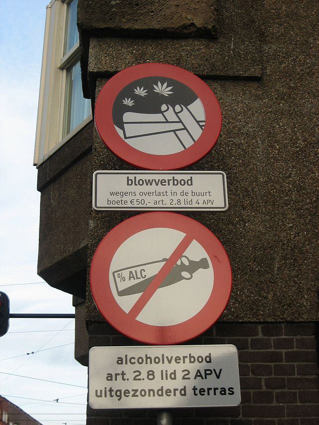 Cannabis is tolerated in The Netherlands