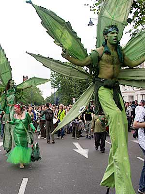 Cannabis protest in Brixton