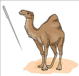 We need to push harder to get the camel through the eye of the needle