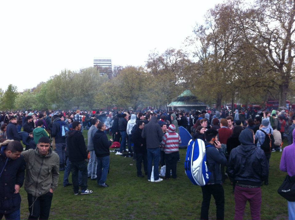 Cannabis protest at Hyde Park, London