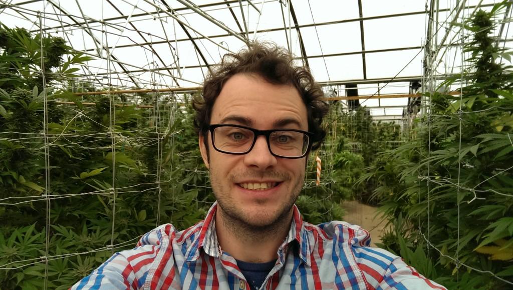 Dale at RiverRock Wellness Medical Marijuana Center in Denver Colorado - amongst the grow