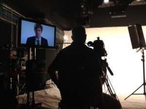 MS patient Clark French at C4's 4thought studio.