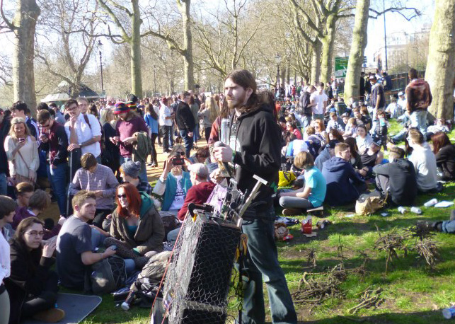 Cannabis campaigner and NORML UK Outreach Director and Chair of the UK Cannabis Social Clubs, Greg 'Cure UK' de Hoedt.