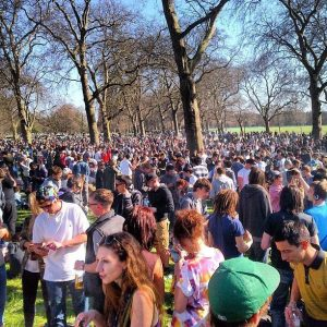 420 cannabis protest at London Hyde Park, April 20th 2013.