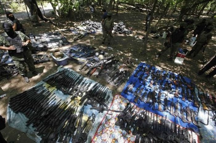 War on drugs, weapons of Mexican drug cartel