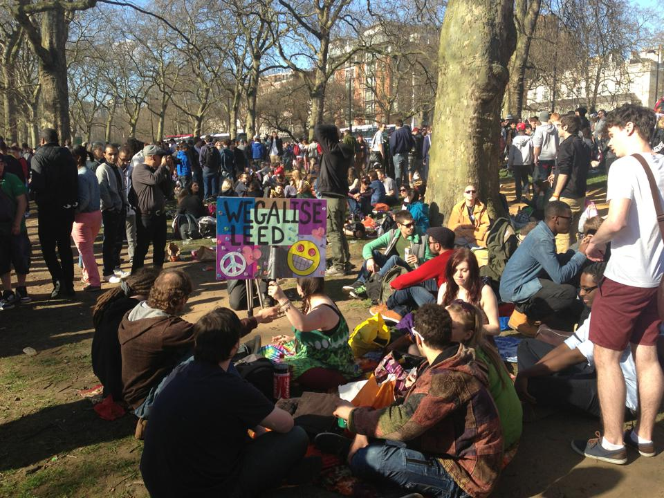 Hyde park cannabis smoke out - April 20th 2013