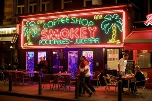 Coffeeshop Smokey in The Netherlands where you can legally buy cannabis.