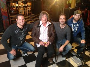 Howard Marks aka Mr Nice with the Culture High film crew.