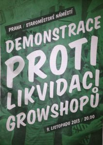 Demonstrace proti likvidac growshops |  demonstration against the destruction of growshops: Cannafest 2013