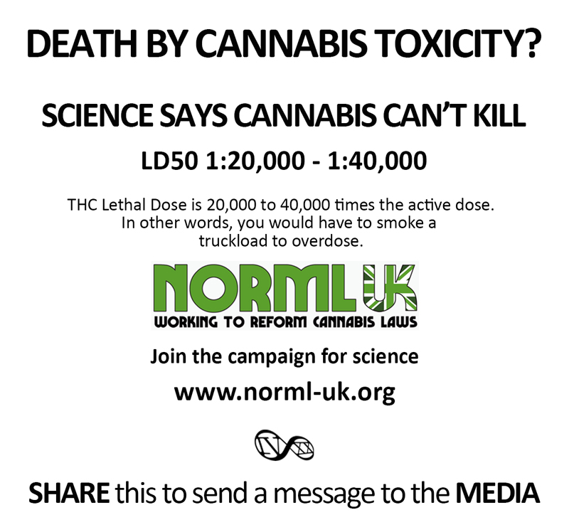 THC Lethal Dose is 20,000 to 40,000 times the active dose. In other words, you would have to smoke a truckload to overdose.