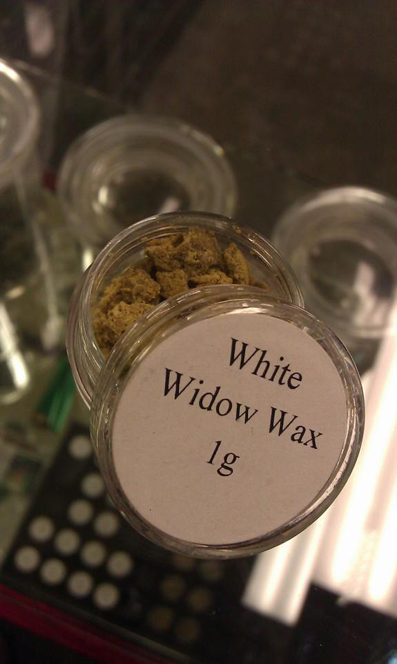 White Widow Wax at Green Man legal weed store, Colorado.