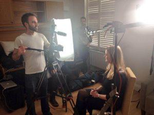 Annie Machon filming for The Culture High